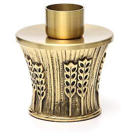 Candeliere Molina ottone dorato spighe s13