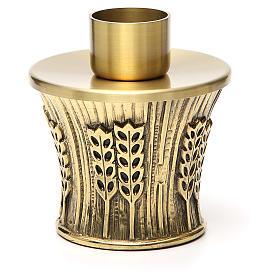 Candeliere Molina ottone dorato spighe s15