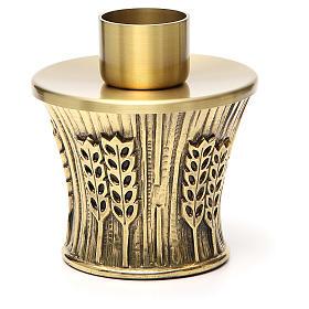 Candeliere Molina ottone dorato spighe s16