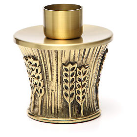 Candeliere Molina ottone dorato spighe s18