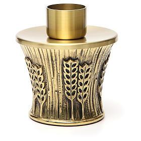 Candeliere Molina ottone dorato spighe s23
