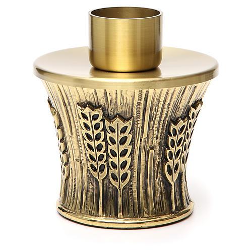 Candeliere Molina ottone dorato spighe 1