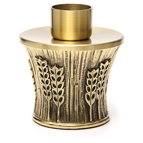 Candeliere Molina ottone dorato spighe 2