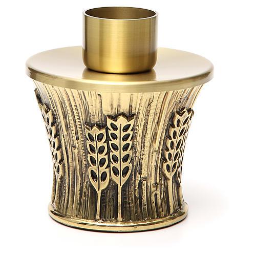 Candeliere Molina ottone dorato spighe 5