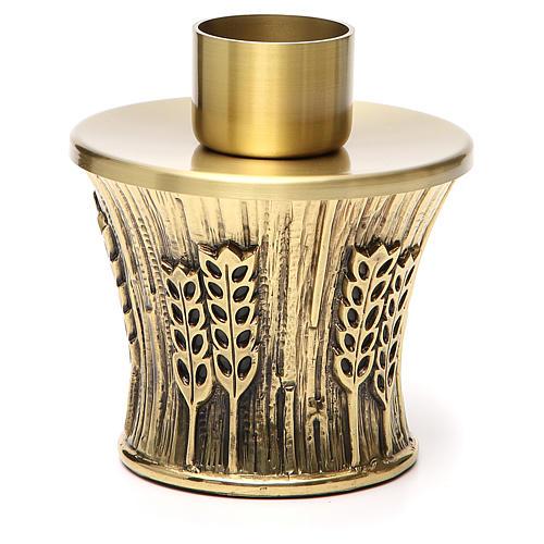 Candeliere Molina ottone dorato spighe 6