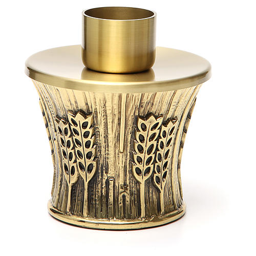 Candeliere Molina ottone dorato spighe 7