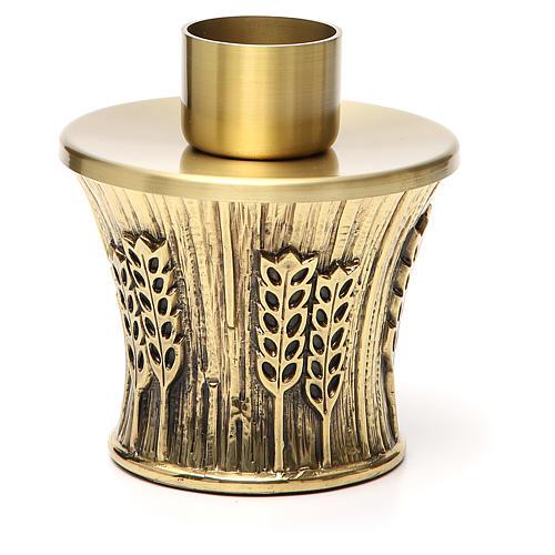 Candeliere Molina ottone dorato spighe 8