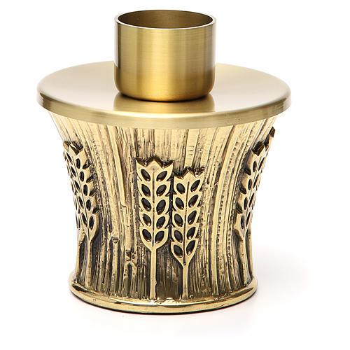 Candeliere Molina ottone dorato spighe 9