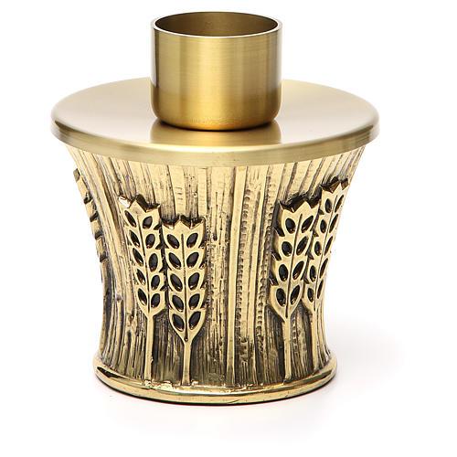 Candeliere Molina ottone dorato spighe 11
