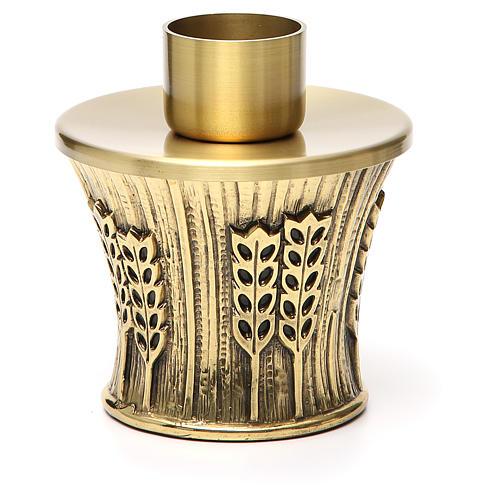 Candeliere Molina ottone dorato spighe 13