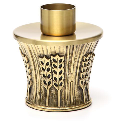 Candeliere Molina ottone dorato spighe 15