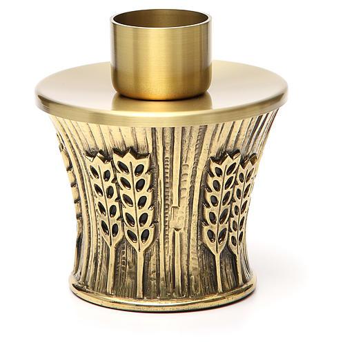 Candeliere Molina ottone dorato spighe 16