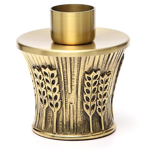 Candeliere Molina ottone dorato spighe 17