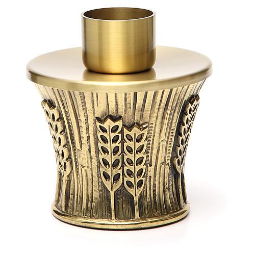 Candeliere Molina ottone dorato spighe 19