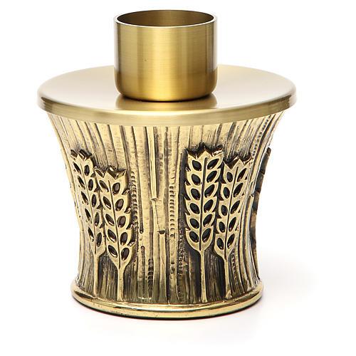Candeliere Molina ottone dorato spighe 22