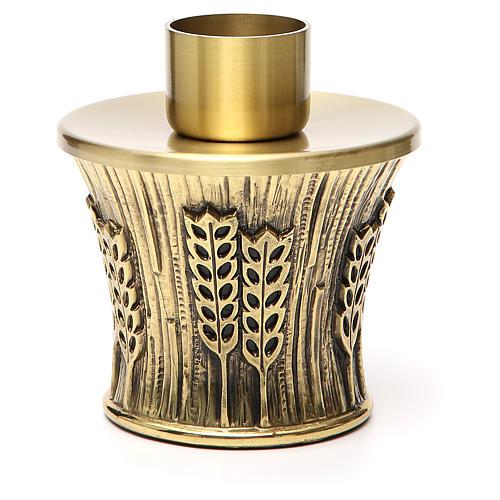 Candeliere Molina ottone dorato spighe 24