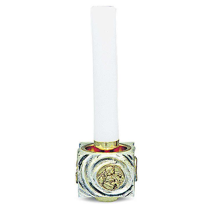 Candeliere di ottone fuso bicolore 9x9x9 cm 4