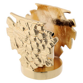 Candelero latón fundido h 9 cm s4