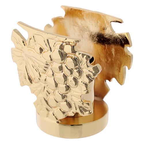 Candelero latón fundido h 9 cm 4