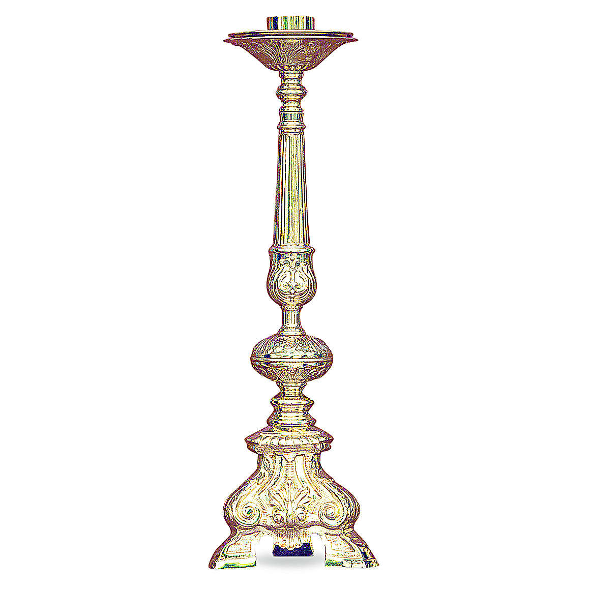 Baroque candelabra in gold cast brass 50cm 4