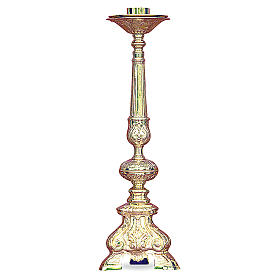 Baroque candelabra in gold cast brass 50cm s1
