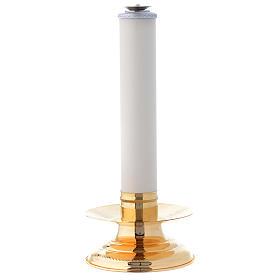 Candeliere con finta candela h. 36 cm s1