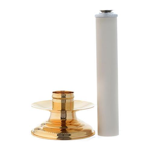 Candeliere con finta candela h. 36 cm 2