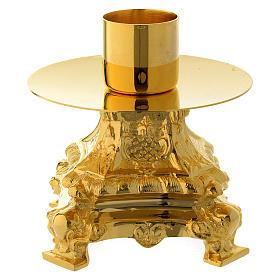 Kerzenleuchter 13cm vergoldeten Messing s2