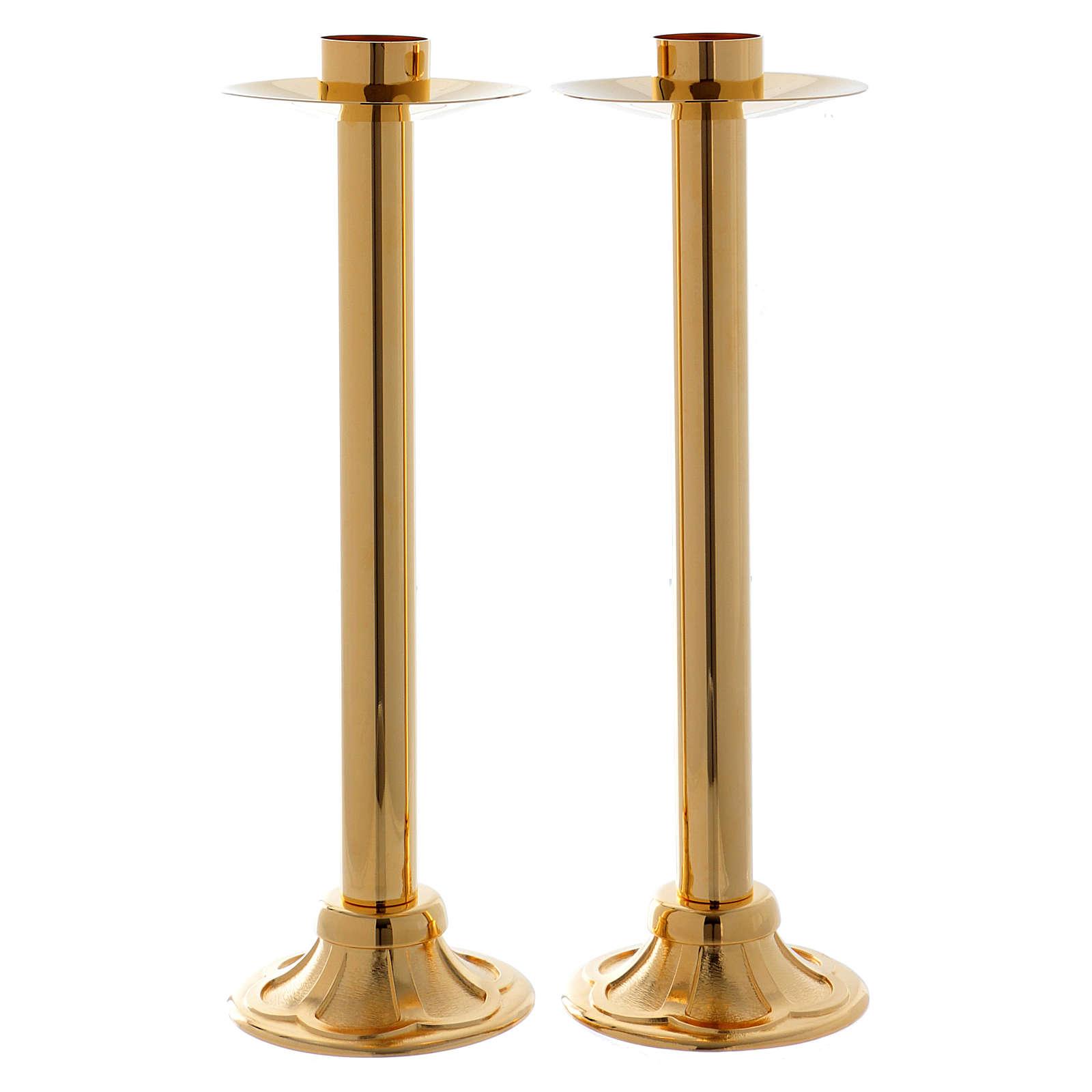 Set de candelabros para procesión h 40 cm diámetro casquillo 4 cm 3