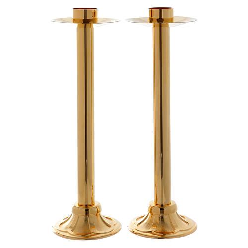 Set de candelabros para procesión h 40 cm diámetro casquillo 4 cm 1