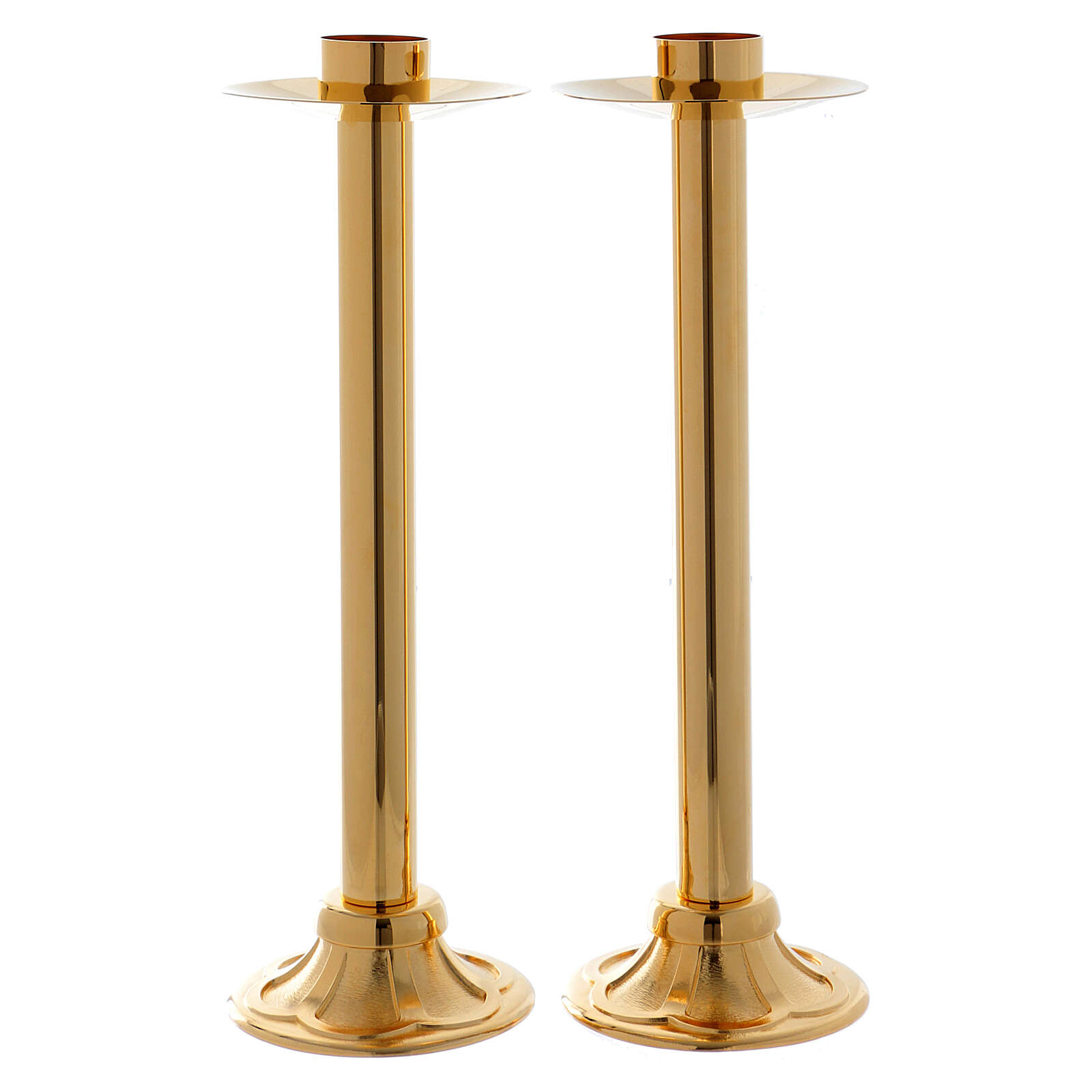 Processional candlestick set 15 in with socket of 1 1/2 in diameter 3