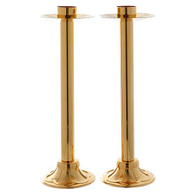 Processional candlestick set 15 in with socket of 1 1/2 in diameter s1