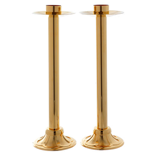 Processional candlestick set 15 in with socket of 1 1/2 in diameter 1