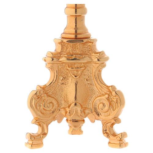 Candelero estilo rococo dorado 3