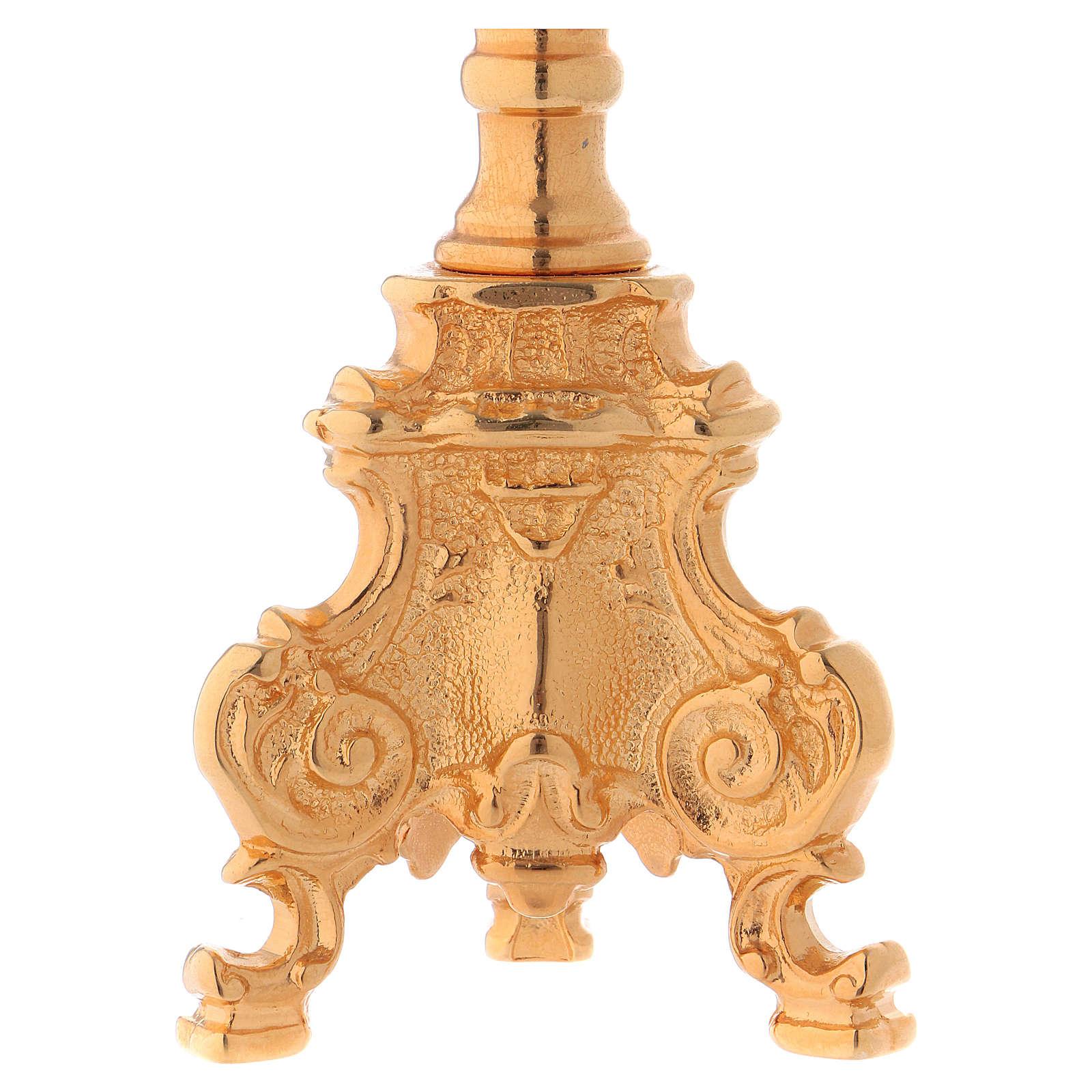 Candeliere stile rococò dorato 4