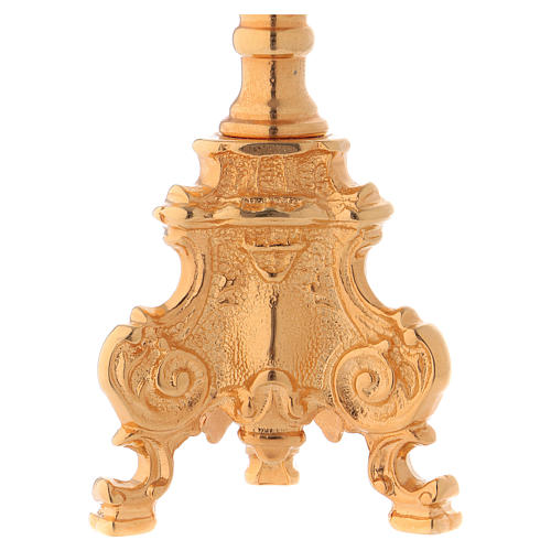 Candeliere stile rococò dorato 3