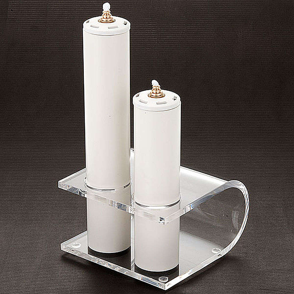 Candle holder in plexiglas with 2 candles 4