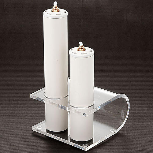 Candle holder in plexiglas with 2 candles 3