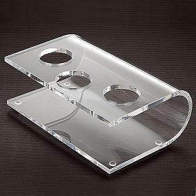 Chandelier plexiglas, transparent, trois places s2