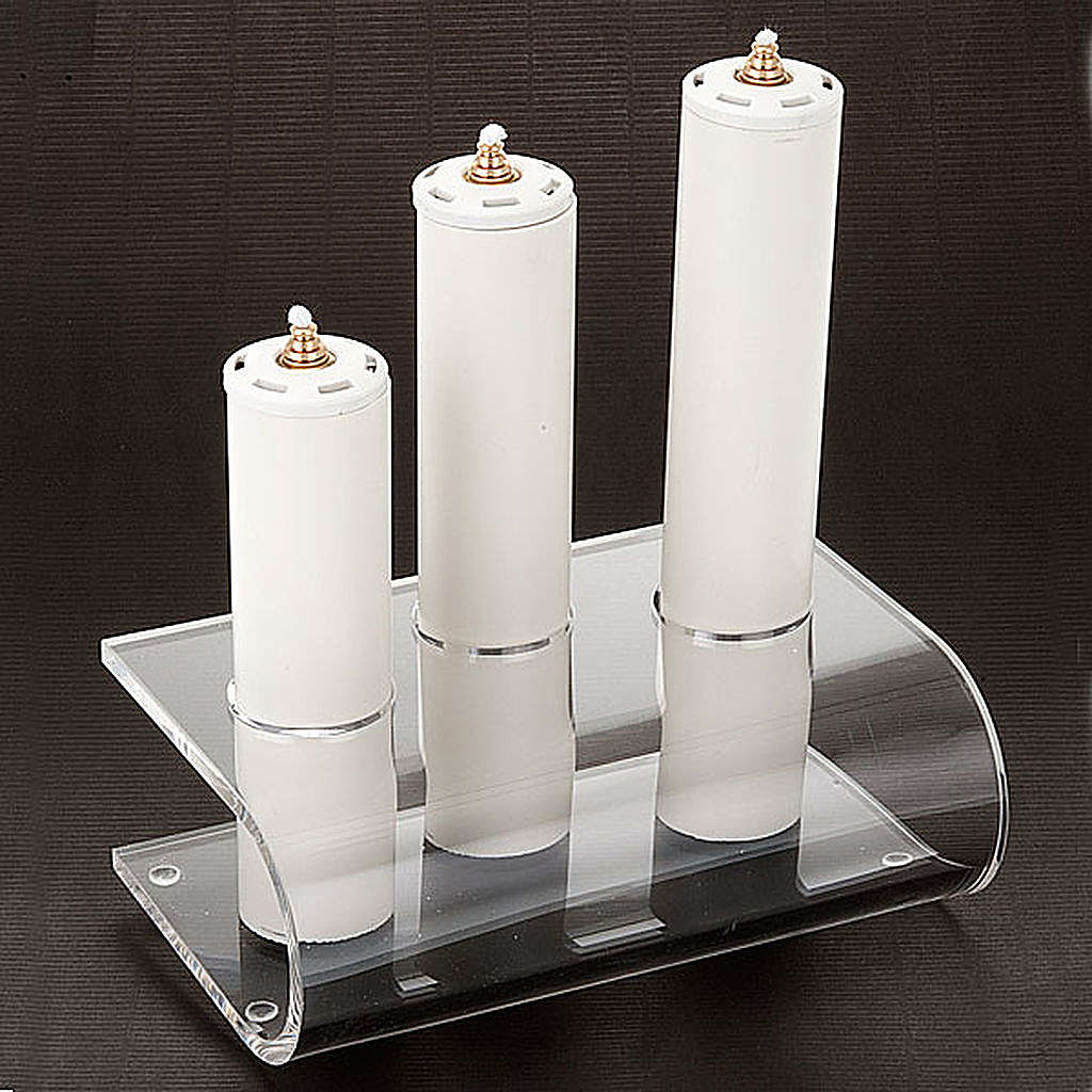 Candle holder in plexiglass with 3 candles 4