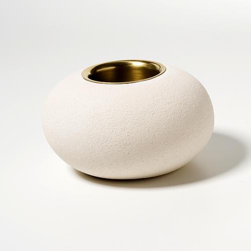 Candeliere argilla refrattaria bronzo mod. Ellisse 9 cm 2