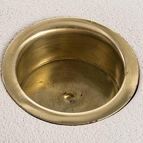 Candeliere argilla refrattaria ovale interno ottone 7 cm s3