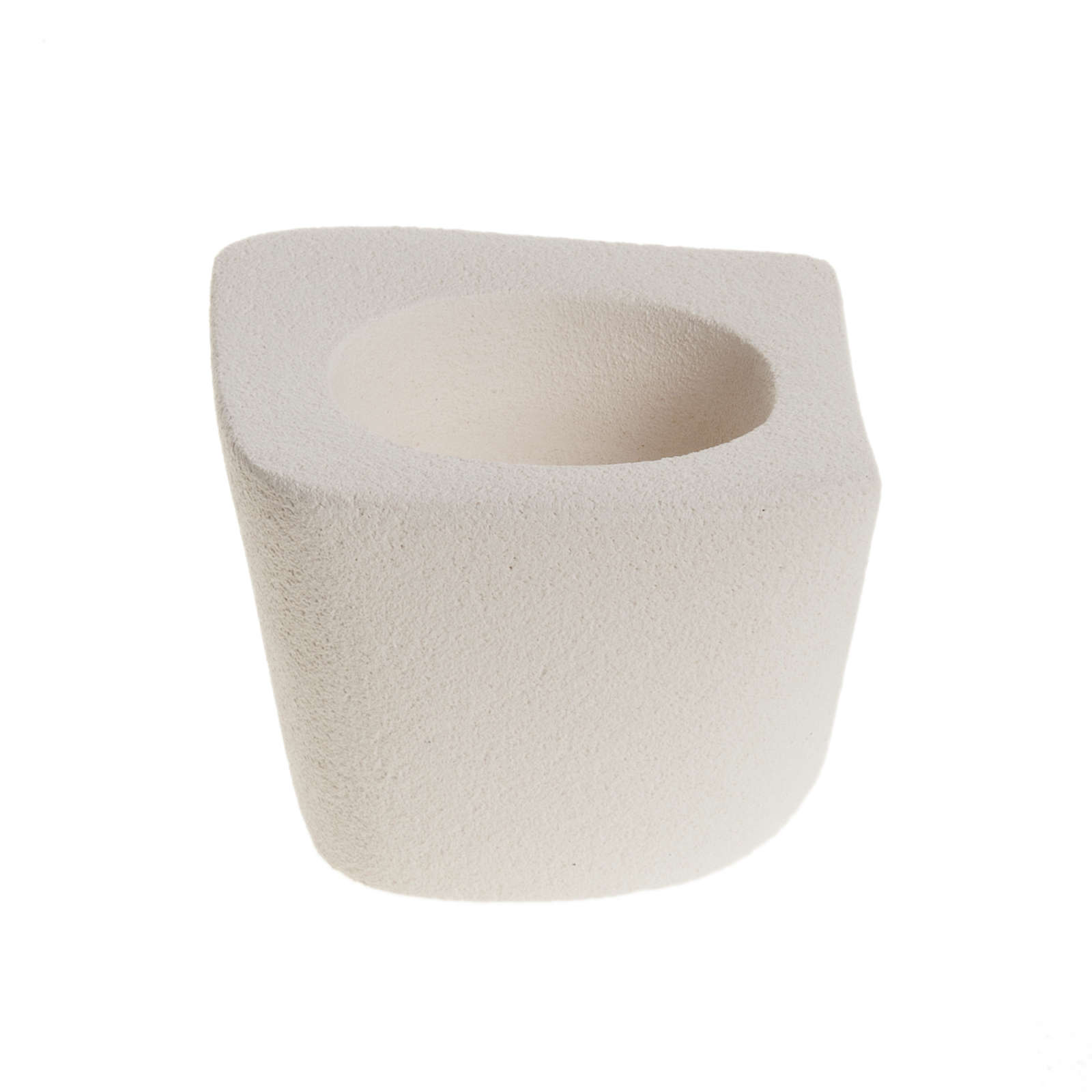 Candelero arcilla ovalado irregular 9cm 4