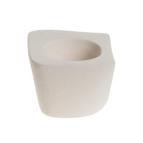 Candelero arcilla ovalado irregular 9cm 2