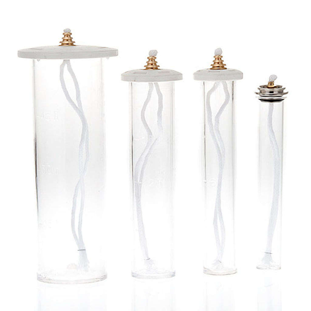 Oil Cartridge in plexiglass for plastic candle 3