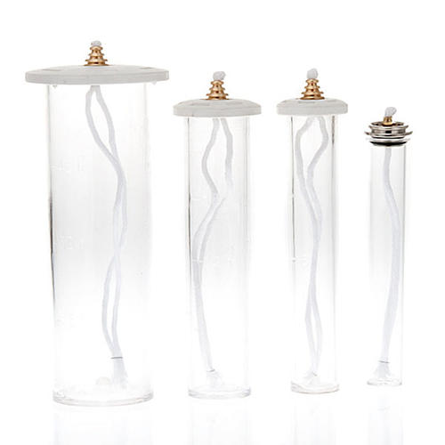 Oil Cartridge in plexiglass for plastic candle 1