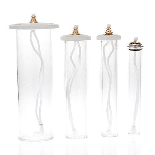 Cartucce cera liquida in plexiglass per candele 1