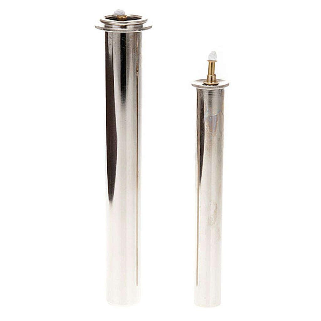 Cartucce cera liquida in metallo per finte candele 3
