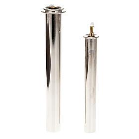 Cartucce cera liquida in metallo per finte candele s1