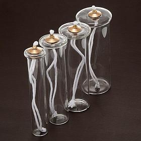 Cartouche en verre pour bougies à cire liquide s2